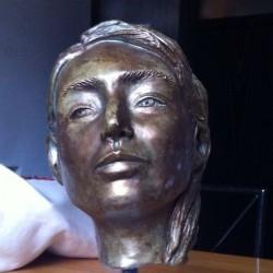 Teresa Turco - Testina (creta effetto bronzo)