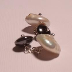 Gemelli con perle ed ematite
