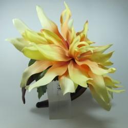 Cerchietto con fiore e perla