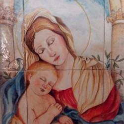 dipinto su maiolica