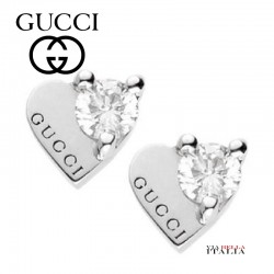 "GUCCI Trademark Earrings ""Hearts with Diamonds"