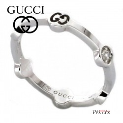 GUCCI - Silver Ring with Diamond 201932