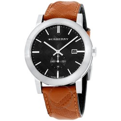 Burberry BU9905 The City Seconds Subdial H Check Black Dial 42mm