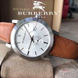 Burberry BU9904 The City - Seconds Subdial - H Check Silver Tone 42mm