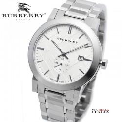 【BURBERRY】BU9900 The City Seconds Sub-dial Check Silver Tone 42mm
