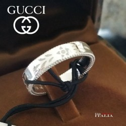 GUCCI RING ICON 4MM IN 18KT WHITE GOLD