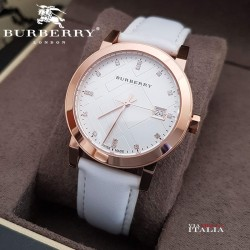 【BURBERRY】The City BU9130 The City Rose Gold Leather Ladies Watch  34mm