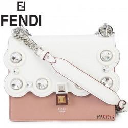 【FENDI】Kan I leather cross-body bag