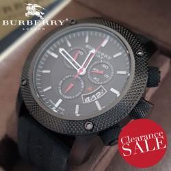【BURBERRY】 Sport Endurance Black Ion Plated Chronograph BU7701 44mm