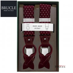 BRUCLE - BRETELLE UOMO FORMALI SETA HAND MADE IN ITALY