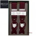 イタリア製【BRUCLE】シルクサスペンダー ボルドー