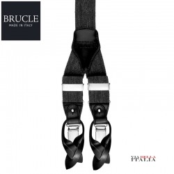 イタリア製【BRUCLE】シルクサスペンダー レッド