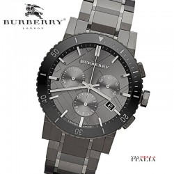 【BURBERRY】The City BU9381 Chronograph Ion Plated 42mm