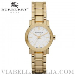 【BURBERRY】THE CITY Gold Tone Bracelet Watch BU9203 26mm
