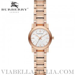【BURBERRY】THE CITY Rose Gold Ion Plated Bracelet Watch BU9204 26mm