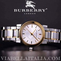 【BURBERRY】THE CITY Two Tone Bracelet Ladies Watch BU9217 26mm