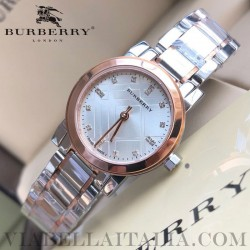 【BURBERRY】THE CITY Two Tone Diamond Accent Bracelet Watch BU9214 26mm