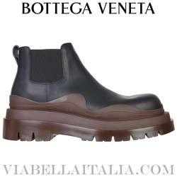 Bottega veneta Black leather slip on with maxi intreccio