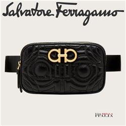 Salvatore Ferragamo - QUILTED GANCINI BELT BAG - SIZE S