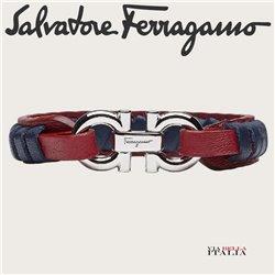 Salvatore Ferragamo - GANCINI BRAIDED BRACELET - SIZE L