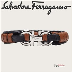 Salvatore Ferragamo - GANCINI BRAIDED BRACELET - SIZE S-M