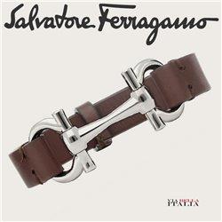 Ferragamo - LEATHER HORSE BIT BRACELET