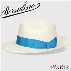 BORSALINO - 'DOLCE' WIDE-BRIMMED FINE PANAMA