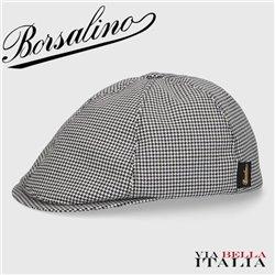 BORSALINO - 6-SEGMENT HOUNDSTOOTH FABRIC