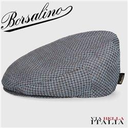 BORSALINO - FLAT CAP TEXTURED FABRIC