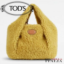 【TOD'S】TOD'S SHIRT SHOPPING BAG IN MONTONE MINI - GIALLO