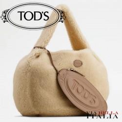 【TOD'S】TOD'S SHIRT HOBO BAG IN MONTONE GRANDE
