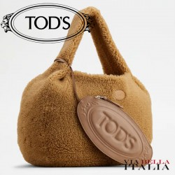 【TOD'S】TOD'S SHIRT HOBO BAG IN MONTONE GRANDE -BEIGE