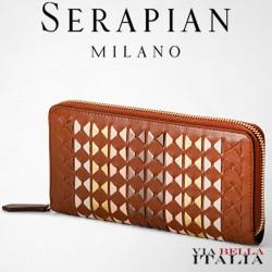 【SERAPIAN MILANO】MOSAICO ラウンドジップウォレット